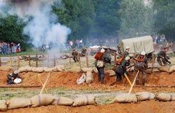 Vista del campo de batalla Imagen de archivo libre de regalías