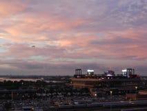 Vista del campo de Citi de Arthur Ashe Stadium Fotos de archivo