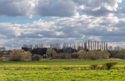 Vista del campo de Essex Foto de archivo libre de regalías