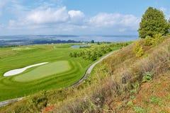 Vista del campo de golf fotografía de archivo
