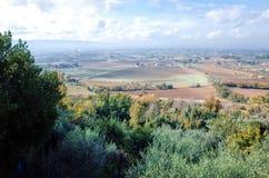 Vista del campo de la ciudad, Assisi, ASSISI, ITALIA fotos de archivo libres de regalías