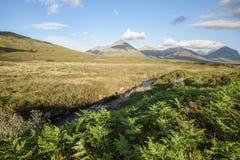 Vista del campo dentro de la isla de Skye fotografía de archivo