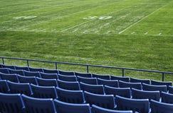 Vista del campo di Footbal Immagini Stock