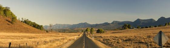 Vista del campo en Tarome, el borde escénico Fotos de archivo