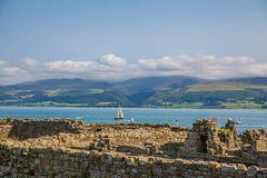 Vista del campo galés fotos de archivo