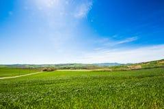 Vista del campo italiano foto de archivo