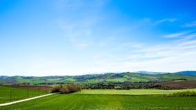 Vista del campo italiano imagenes de archivo