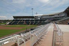 Vista del campo a partir de la tercera base en Hammond Stadium fotos de archivo libres de regalías