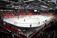 Vista del campo superior del hockey Imágenes de archivo libres de regalías