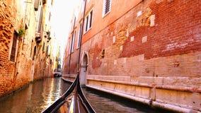 Vista del canal de Venecia almacen de video