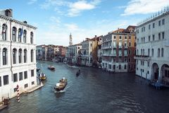 Vista del canal grande en Venecia Imagenes de archivo