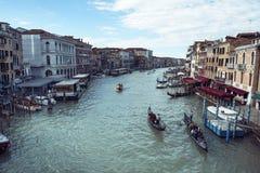 Vista del canal grande en Venecia Imagen de archivo