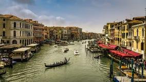 Vista del canal grande a Venezia fotografia stock