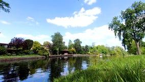 Vista del canale; belle case; scena di stupore video d archivio