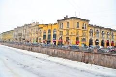 Vista del canale di Griboyedov a St Petersburg Immagine Stock