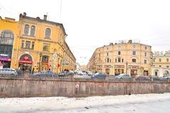 Vista del canale di Griboyedov a St Petersburg Fotografia Stock Libera da Diritti