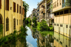 Vista del canale di Padova Fotografie Stock Libere da Diritti