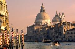 Vista del canale di Venezia fotografia stock