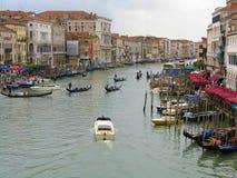 Vista del canale di Venezia Fotografie Stock