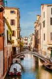 Vista del canale di Venezia immagine stock