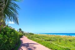 Vista del canale navigabile per entrare in Miami Fotografie Stock Libere da Diritti