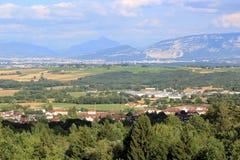 Vista del cantone di Ginevra, Svizzera Immagine Stock
