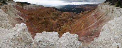 Vista del canyon a Cedar Breaks Fotografia Stock Libera da Diritti
