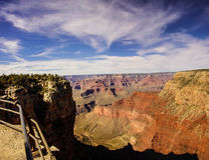 Vista del canyon da Rim Trail Fotografia Stock