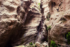 Vista del canyon della gola di Avakas immagine stock