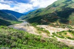 Vista del canyon di Chicamocha Fotografia Stock