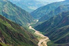 Vista del canyon di Chicamocha Immagini Stock Libere da Diritti