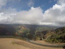 Vista del canyon di Waimea fotografia stock libera da diritti