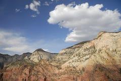 Vista del canyon superiore di Zion Fotografia Stock Libera da Diritti