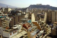 Vista del capitol de Atenas de Grecia fotos de archivo libres de regalías