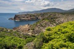 Vista del cappuccio de Creus. Costa Brava, Spagna. Fotografie Stock Libere da Diritti