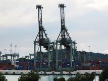 Puerto de SINGAPUR Imagenes de archivo