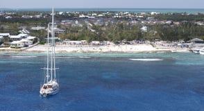 Vista del Caribe Foto de archivo libre de regalías