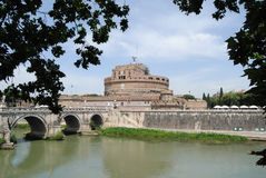 Vista del Castel Sant'Angelo. Roma fotografia stock