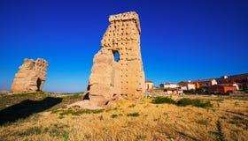 Vista del castello abbandonato Palenzuela Fotografie Stock Libere da Diritti