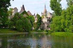 Vista del castello dal lago Fotografie Stock Libere da Diritti