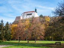 Vista del castello dal parco Fotografia Stock Libera da Diritti