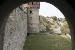 Vista del castello dalla finestra Immagini Stock