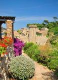 Vista del castello del tossa de marzo Immagini Stock Libere da Diritti