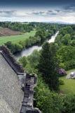 Vista del castello dell'altopiano Fotografia Stock Libera da Diritti