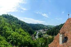 Vista del castello della crusca sul tetto Fotografia Stock Libera da Diritti