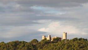 Vista del castello di Bellver Fotografia Stock