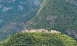 Vista del castello di Beseno, Italia Immagini Stock Libere da Diritti