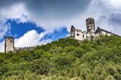 Vista del castello di Bezdez Immagine Stock Libera da Diritti