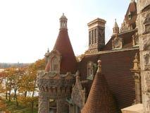 Vista del castello di Boldt dal balcone fotografie stock