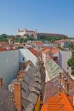 Vista del castello di Bratislava (fondato IX nel C.). Bratislava Immagine Stock Libera da Diritti